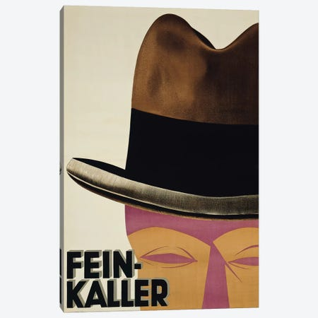 Fein-Kaller Hats Canvas Print #VAC1584} by Vintage Apple Collection Art Print