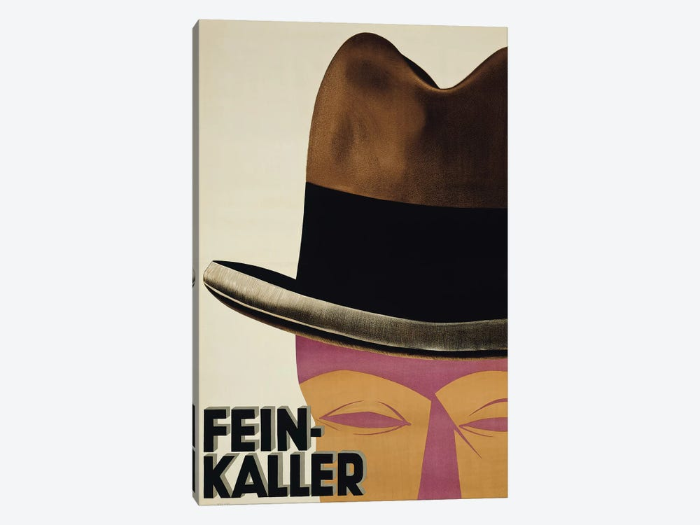 Fein-Kaller Hats by Vintage Apple Collection 1-piece Canvas Artwork