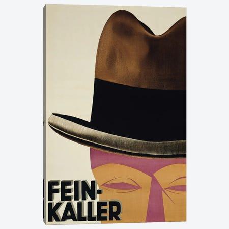 Fein-Kaller Hats Canvas Print #VAC1584} by Vintage Apple Collection Art Print