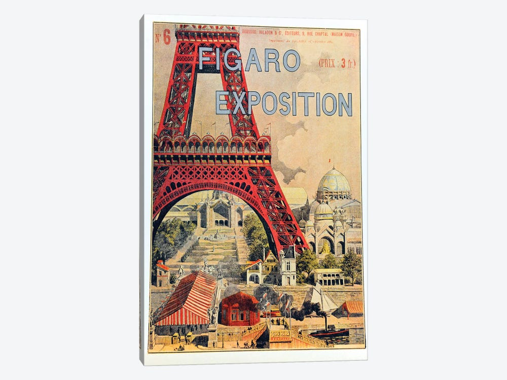 Figaro Exposition, September 1889 by Vintage Apple Collection 1-piece Canvas Print