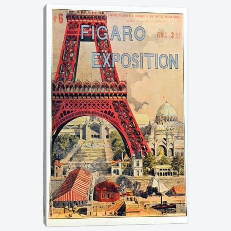 Figaro Exposition, September 1889 3-Piece Canvas #VAC1589} by Vintage Apple Collection Canvas Artwork