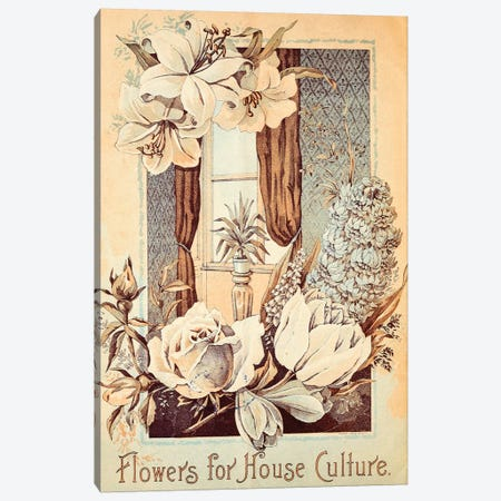 Flowers For House Culture Canvas Print #VAC1592} by Vintage Apple Collection Art Print