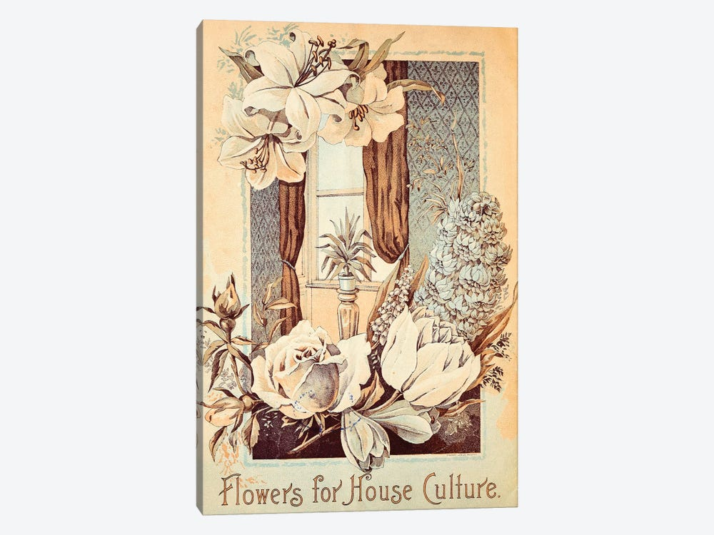 Flowers For House Culture by Vintage Apple Collection 1-piece Art Print