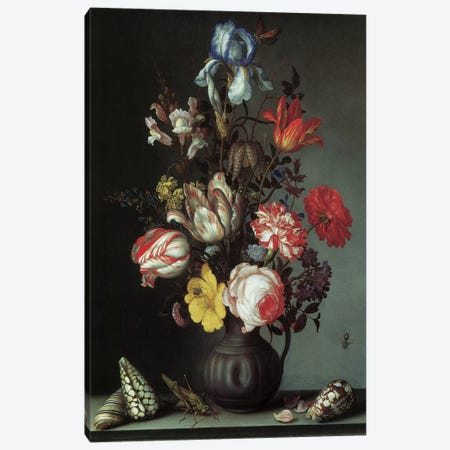 Flowers II Canvas Print #VAC1594} by Vintage Apple Collection Canvas Art