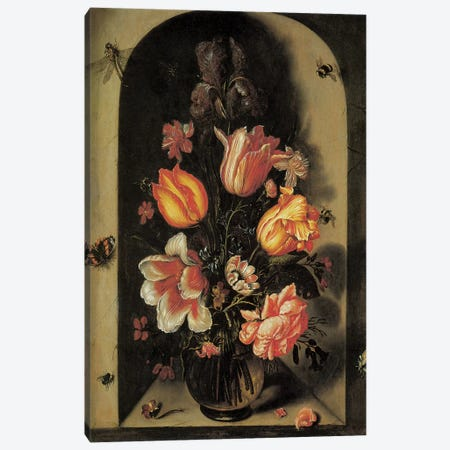 Flowers III Canvas Print #VAC1595} by Vintage Apple Collection Canvas Artwork