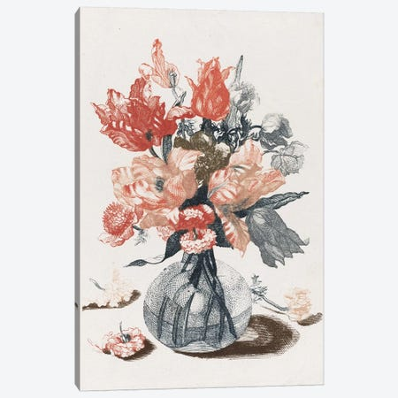 Flowers IV 3-Piece Canvas #VAC1596} by Vintage Apple Collection Canvas Artwork