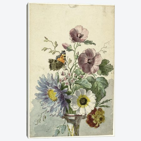 Flowers VIII Canvas Print #VAC1601} by Vintage Apple Collection Canvas Art Print
