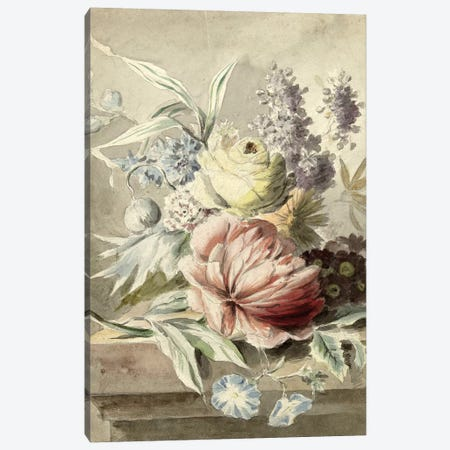 Flowers XIX Canvas Print #VAC1607} by Vintage Apple Collection Canvas Wall Art