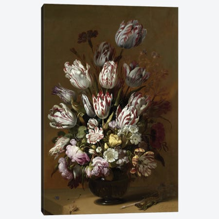 Flowers XV Canvas Print #VAC1608} by Vintage Apple Collection Art Print