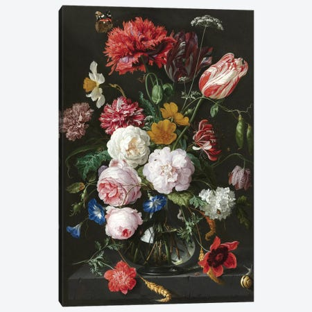 Flowers XVIII Canvas Print #VAC1611} by Vintage Apple Collection Canvas Artwork