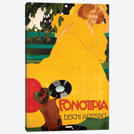Fonotipia Dischi Artistici Canvas Print #VAC1616} by Vintage Apple Collection Canvas Print