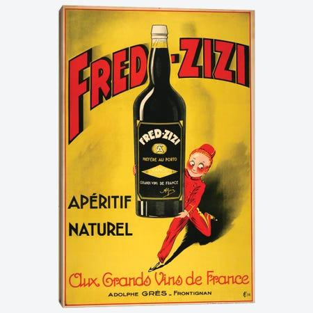Fred-Zizi Apéritif, 1932 Canvas Print #VAC1620} by Vintage Apple Collection Canvas Art Print