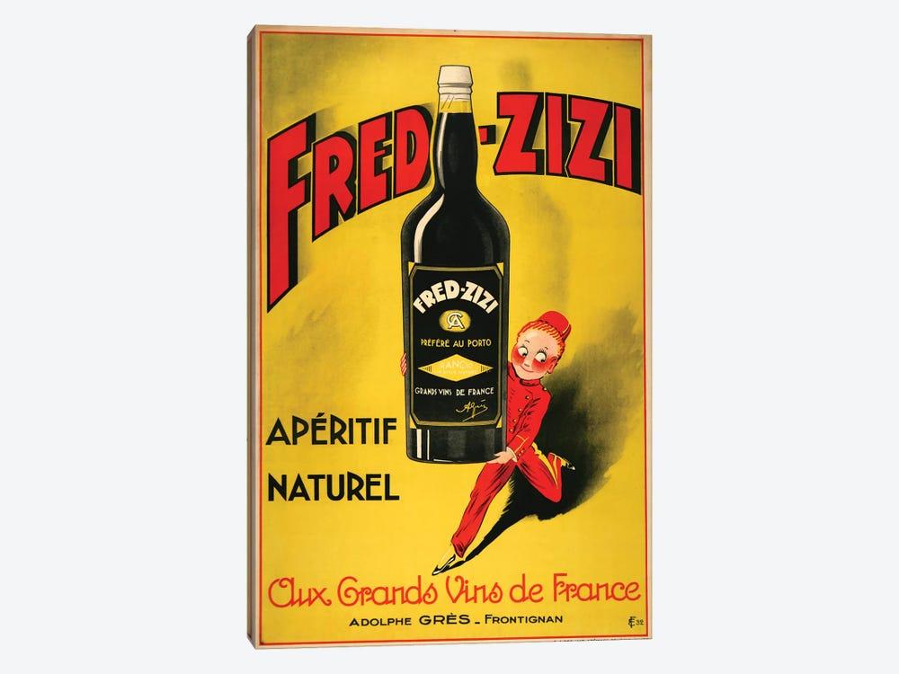 Fred-Zizi Apéritif, 1932 by Vintage Apple Collection 1-piece Canvas Art
