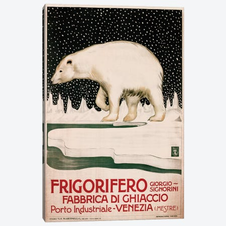 Frigorifero Polar Bear Canvas Print #VAC1629} by Vintage Apple Collection Canvas Print