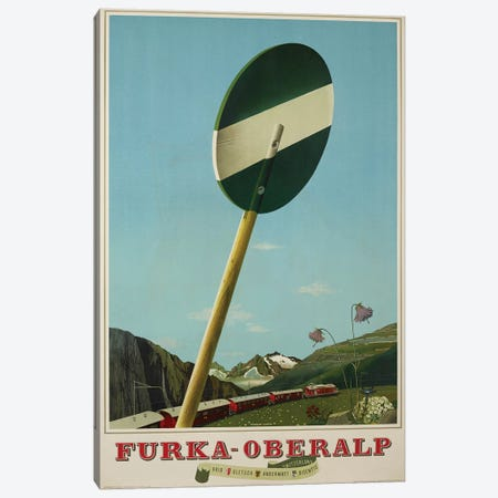 Furka-Oberalp Railway Canvas Print #VAC1631} by Vintage Apple Collection Canvas Wall Art
