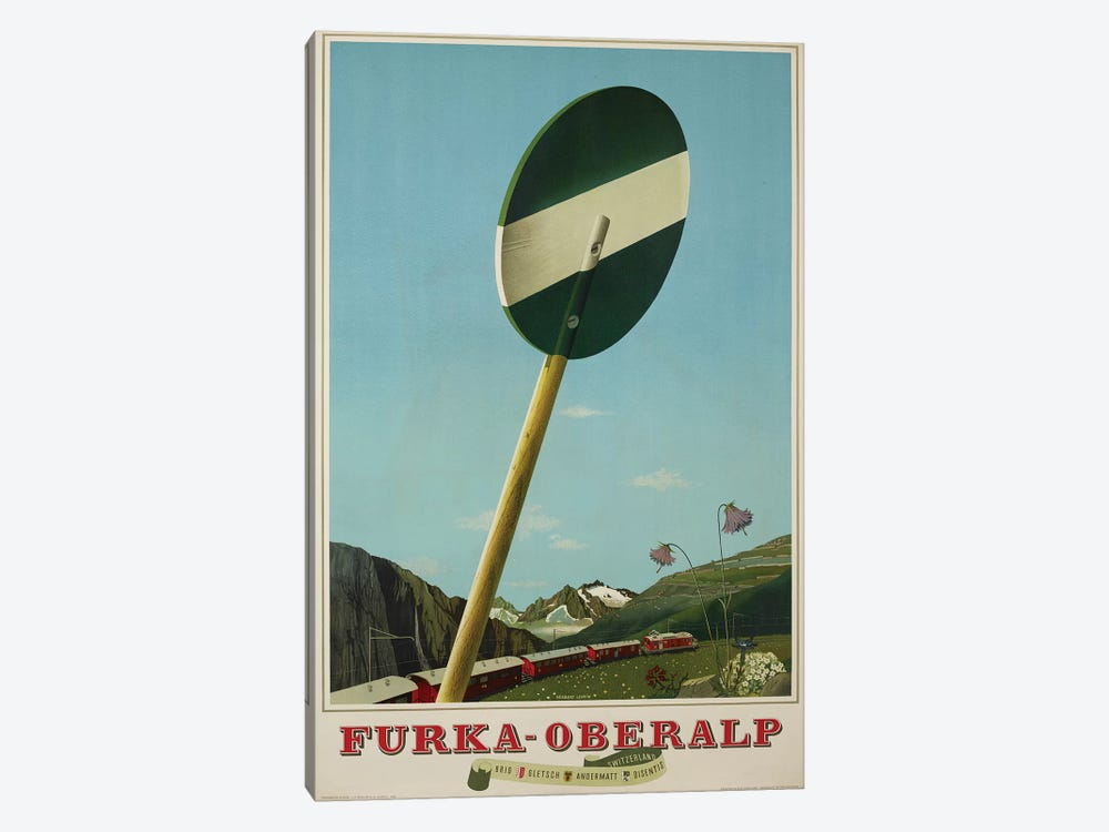 Furka-Oberalp Railway by Vintage Apple Collection 1-piece Canvas Art