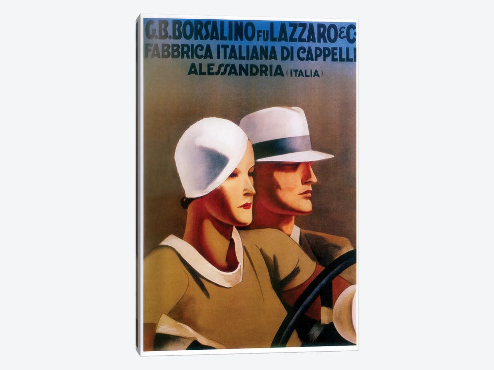 G.B. Borsalino Fu Lazzaro & Co. Felt Hats by Vintage Apple Collection 1-piece Canvas Art Print