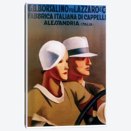 G.B. Borsalino Fu Lazzaro & Co. Felt Hats 3-Piece Canvas #VAC1632} by Vintage Apple Collection Canvas Artwork