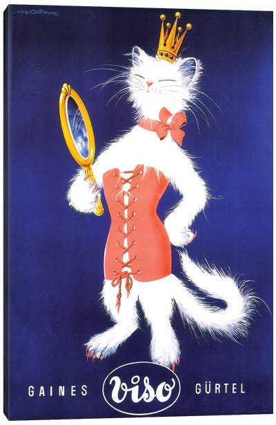 Gaines Gürtel Viso Cat Canvas Art Print