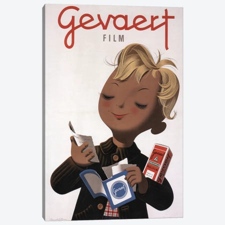 Gevaert Roll Film, Child (1946) 3-Piece Canvas #VAC1635} by Vintage Apple Collection Canvas Art Print