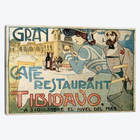 Gran Café Restaurant Canvas Print #VAC1647} by Vintage Apple Collection Canvas Artwork