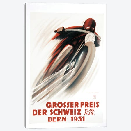 Grosser Preis Der Schweiz, Bern 1931 Canvas Print #VAC1656} by Vintage Apple Collection Canvas Print