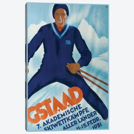 Gstaad II, 1931 Canvas Print #VAC1658} by Vintage Apple Collection Canvas Art