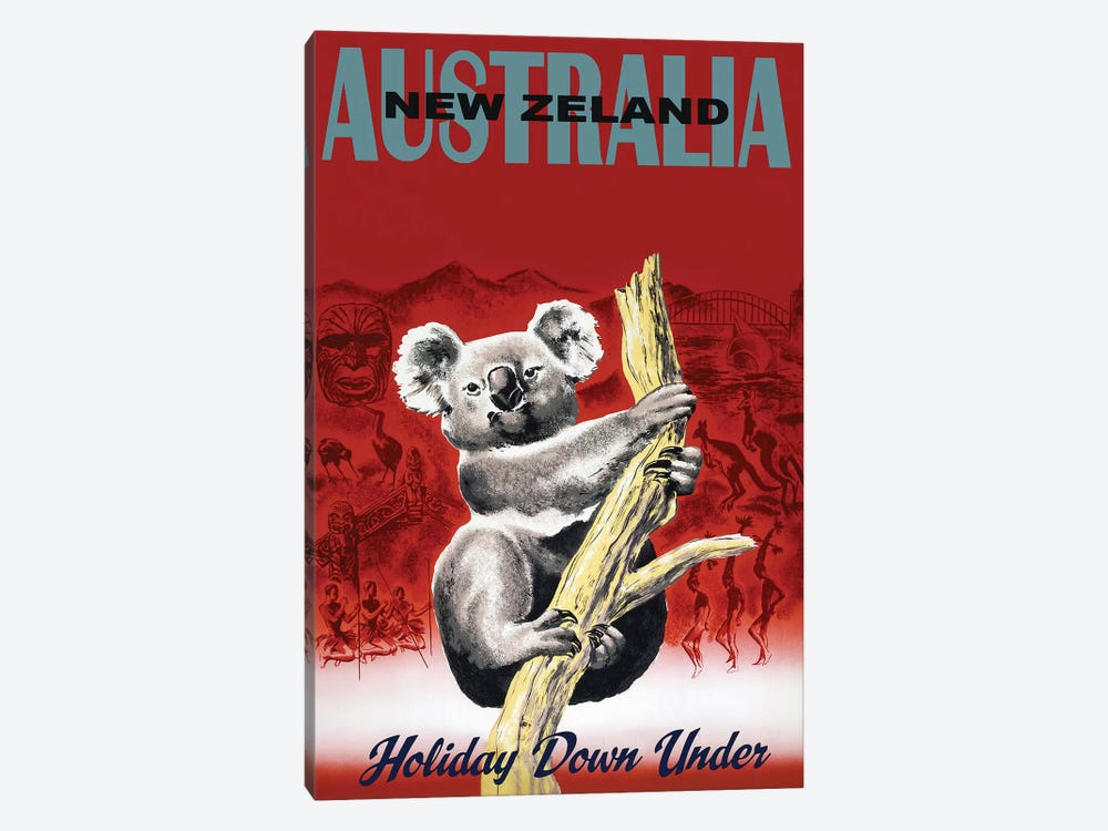 Holiday Down Under by Vintage Apple Collection 1-piece Canvas Art Print