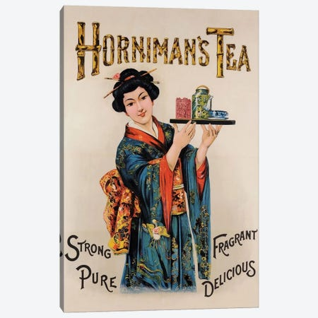 Horniman's Tea Canvas Print #VAC1705} by Vintage Apple Collection Canvas Art Print