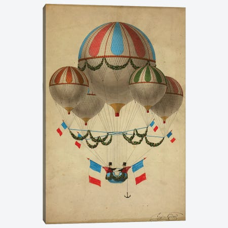 Hot Air Balloons Canvas Print #VAC1706} by Vintage Apple Collection Art Print
