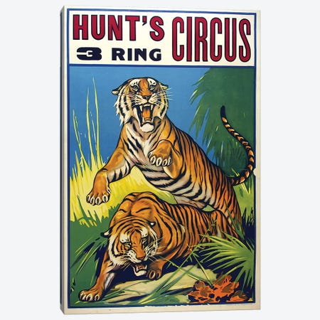 Hunt's 3-Ring Circus Canvas Print #VAC1707} by Vintage Apple Collection Canvas Art Print