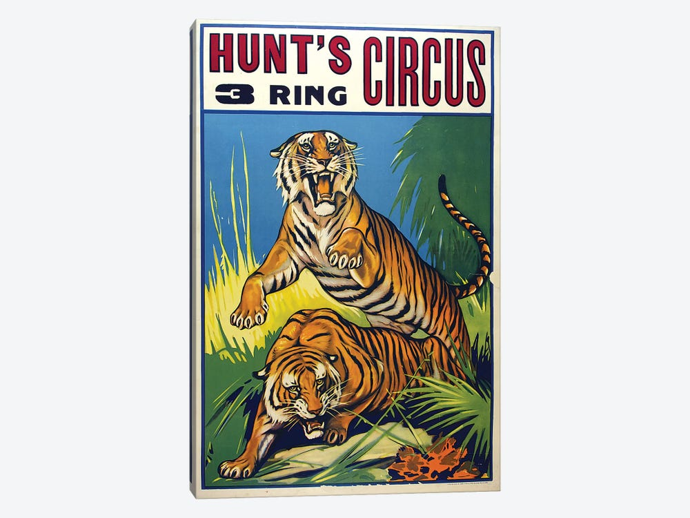 Hunt's 3-Ring Circus by Vintage Apple Collection 1-piece Canvas Wall Art