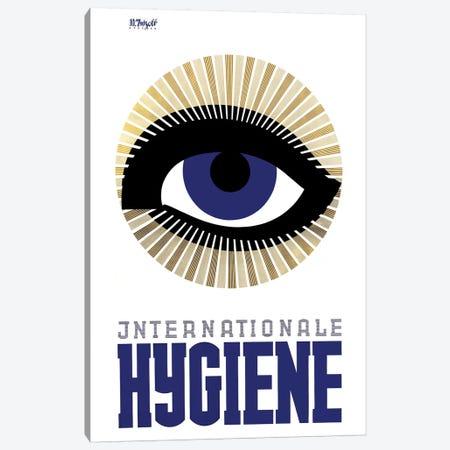 Internationale Hygiene Eye Canvas Print #VAC1710} by Vintage Apple Collection Canvas Print