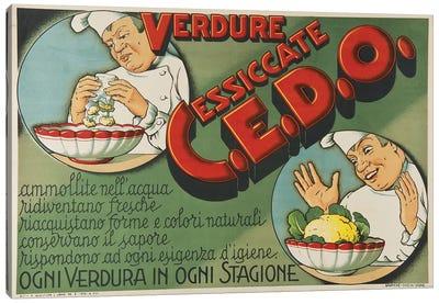 Italian Vegetables, 1938 Canvas Art Print