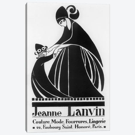 Jeanne Lanvin Fashions Canvas Print #VAC1722} by Vintage Apple Collection Canvas Art