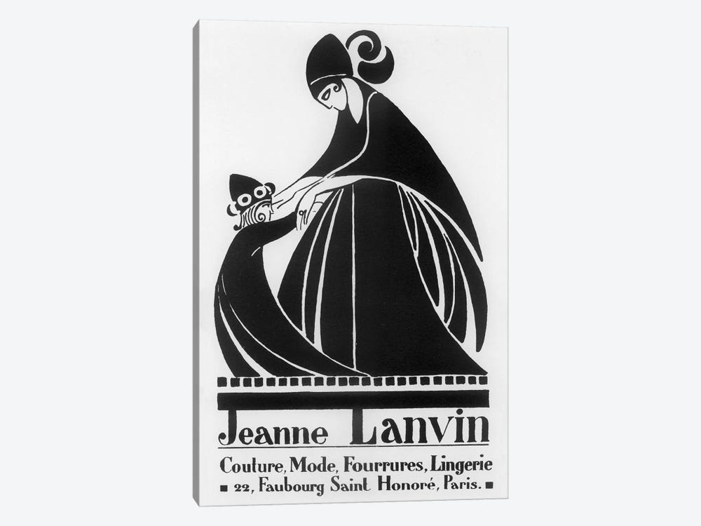 Jeanne Lanvin Fashions by Vintage Apple Collection 1-piece Canvas Art Print