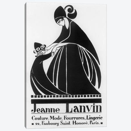 Jeanne Lanvin Fashions Canvas Print #VAC1722} by Vintage Apple Collection Canvas Art