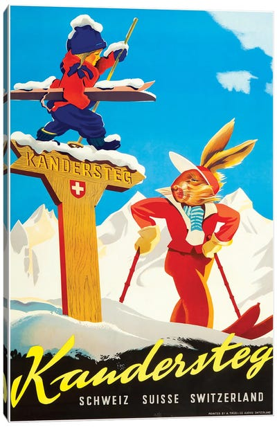 Kandersteg, Switzerland Canvas Art Print
