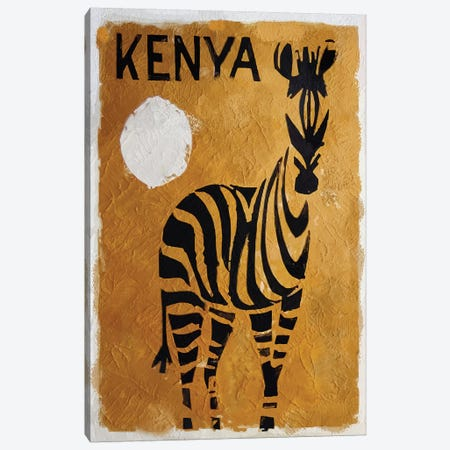Kenya Canvas Print #VAC1734} by Vintage Apple Collection Canvas Artwork