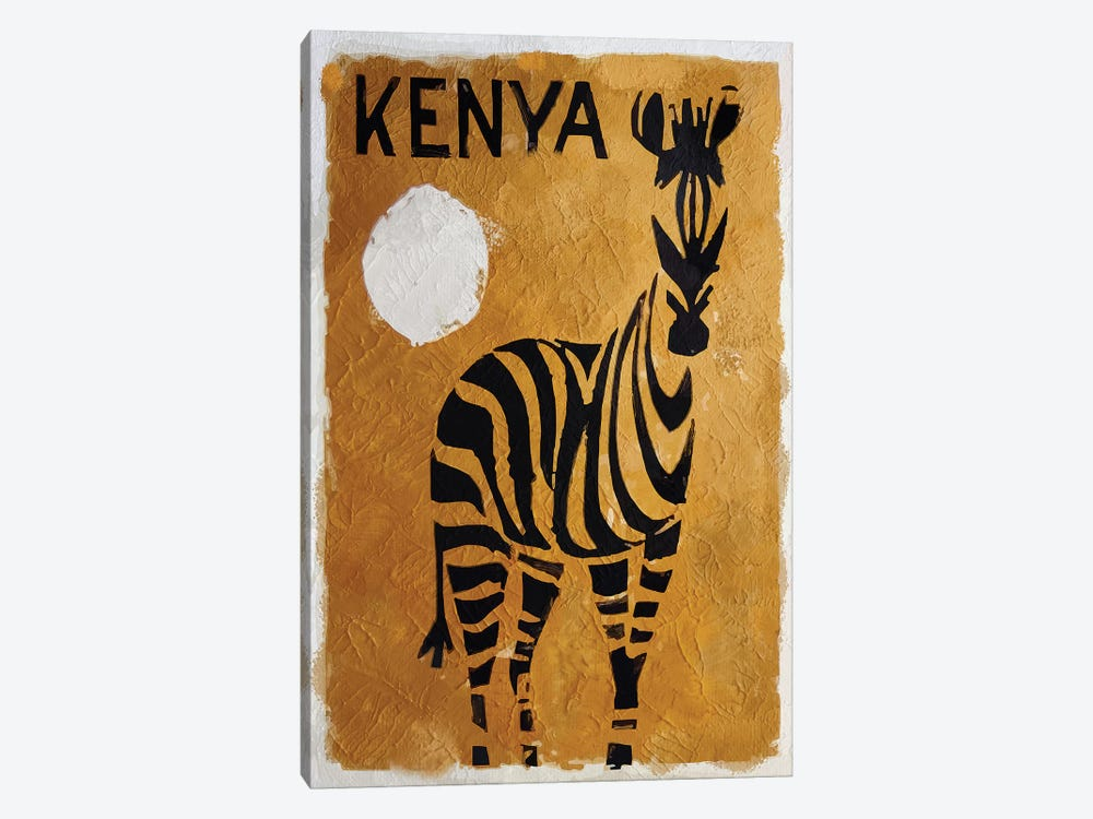 Kenya by Vintage Apple Collection 1-piece Canvas Wall Art