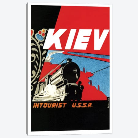 Kiev Intourist U.S.S.R. Canvas Print #VAC1735} by Vintage Apple Collection Canvas Art