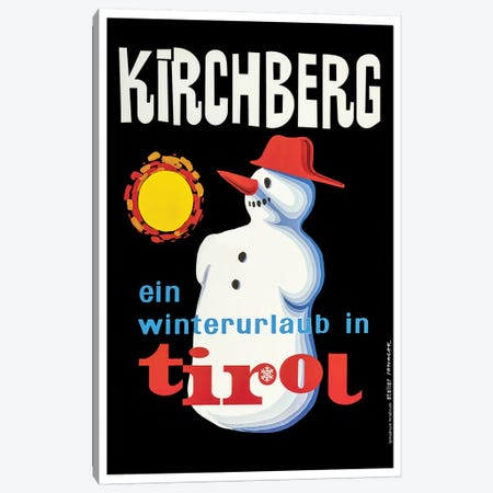 Kirchberg Tirol Winter Canvas Print #VAC1736} by Vintage Apple Collection Canvas Wall Art