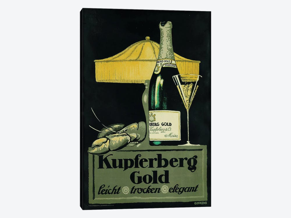 Kupferberg Gold Champagne & Lobster by Vintage Apple Collection 1-piece Art Print