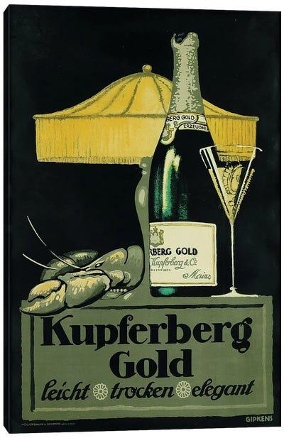 Kupferberg Gold Champagne & Lobster Canvas Art Print