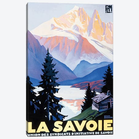La Savoie Canvas Print #VAC1751} by Vintage Apple Collection Canvas Print