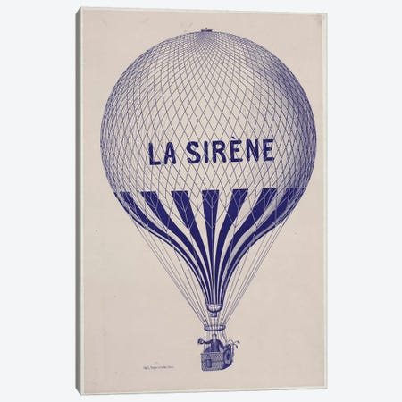 La Sirène Canvas Print #VAC1752} by Vintage Apple Collection Art Print