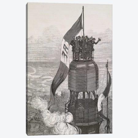 La Tour Eiffel - Achèvement Canvas Print #VAC1753} by Vintage Apple Collection Art Print