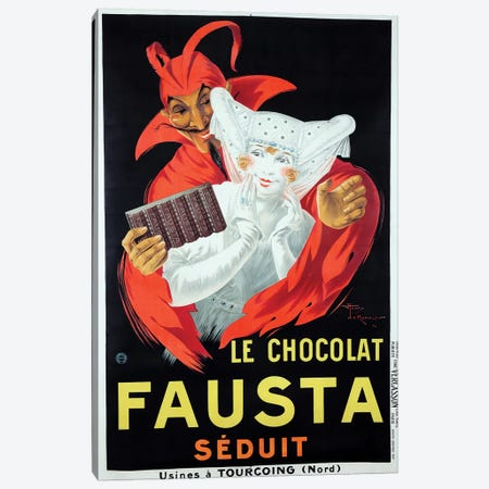 Le Chocolat Fausta Canvas Print #VAC1762} by Vintage Apple Collection Canvas Art