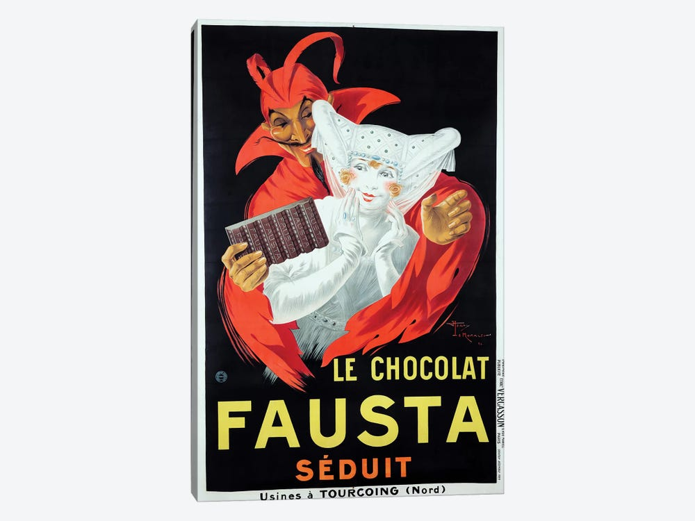 Le Chocolat Fausta by Vintage Apple Collection 1-piece Canvas Print