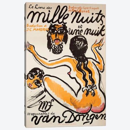 Le Livre des Mille Niuts et Une Nuit, 1919 Canvas Print #VAC1763} by Vintage Apple Collection Canvas Artwork